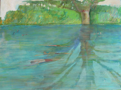 Breaststroke by Jane Medved, copyright 2012, 30x40